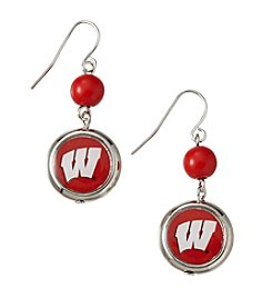accessory PLAYS™ NCAA® Wisconsin Badgers Disc Drop Earrings