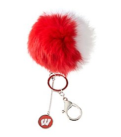 accessory PLAYS™ NCAA® University Of Wisconsin Two-Tone Puff Charm Key Ring
