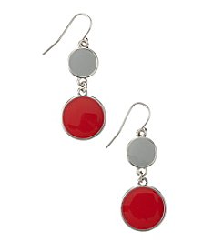 accessory PLAYS® NCAA Ohio State University Two Disc Drop Earrings