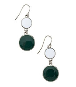 accessory PLAYS™ NCAA® Michigan State Spartans Two Disc Drop Earrings