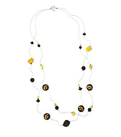 accessory PLAYS™ NCAA® Iowa Hawkeyes Two Row Illusion Shell Stations Necklace