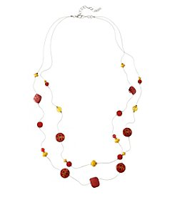 accessory PLAYS™ NCAA® Iowa State Cyclones Two Row Illusion Shell Stations Necklace