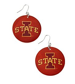 accessory PLAYS™ NCAA Iowa State University Round Shell Drop Earrings