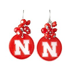 accessory PLAYS™ NCAA® Nebraska Cornhuskers Shell Cluster Earrings