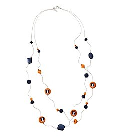 accessory PLAYS™ NCAA® Illinois Fighting Illini Two Row Illusion Shell Stations Necklace