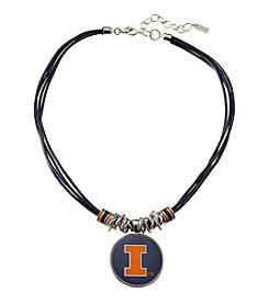 accessory PLAYS™ NCAA® Illinois Fighting Illini Multi Row Cord Pendant Necklace