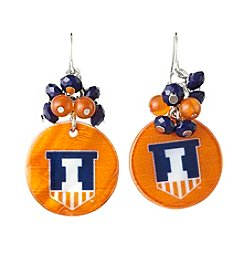 accessory PLAYS™ NCAA® Illinois Fighting Illini Shell Cluster Earrings