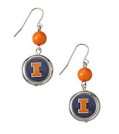 accessory PLAYS™ NCAA® Illinois Fighting Illini Disc Drop Earrings