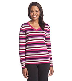 Studio Works® Striped V-Neck Sweater