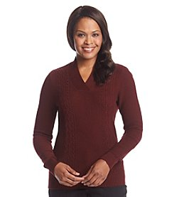 Studio Works® Cable V-Neck Sweater