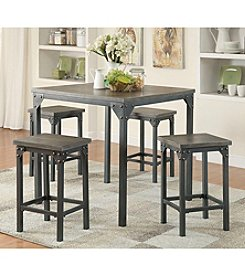 Acme Percie 5-pc. Counter Height Set