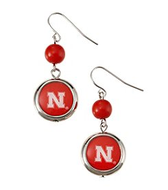 accessory PLAYS™ NCAA® Nebraska Cornhuskers Disc Drop Earrings