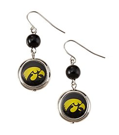 accessory PLAYS™ NCAA® Iowa Hawkeyes Disc Drop Earrings