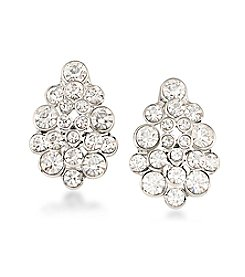 Carolee® Silvertone East Side Clip On Earrings