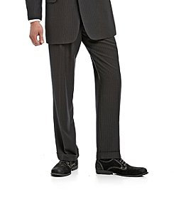 John Bartlett Statements Black Stripe Classic Fit Suit Separates Pants