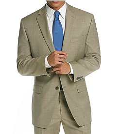 Calvin Klein Men's Tan Flat Front Suit Separates Jacket
