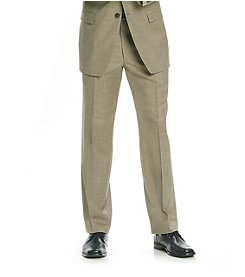 Calvin Klein Men's Tan Flat Front Suit Separates Pants