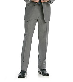 Calvin Klein Men's Grey Flat Front Suit Separates Pants