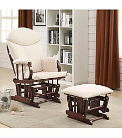 Acme Raul Glider Chair and Ottoman Set