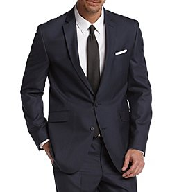 REACTION Kenneth Cole Men's Modern Blue Solid Slim-Fit Suit Separates Jacket