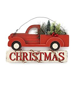 Living Quarters Holiday Truck Wall Decor