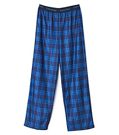 Calvin Klein Boys' 5-16 Plaid Pajama Pants