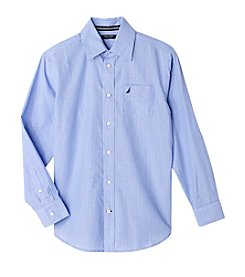 Nautica Boys' 8-20 Long Sleeve Striped Shirt