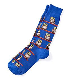 Hot Sox® Men's Owl Glasses Dress Socks