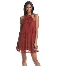 Be Bop Crochet Top Allover Lace Swing Dress
