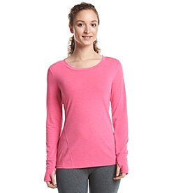 Exertek® Petites' Long Sleeve Seamed Front Tee