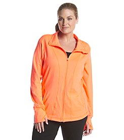 Exertek® Plus Size Solid Color Full Zip Jacket