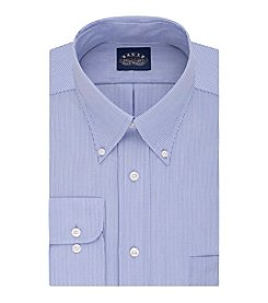 Eagle® Men's Non Iron Stretch Regular Fit Fine Line Stripe Dress Shirt