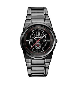 Unlisted by Kenneth Cole® Men's Chronograph Black Ion-Plated Bracelet