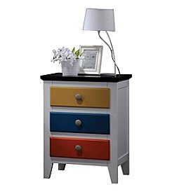 Acme Brooklet Multicolor Nightstand