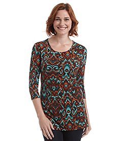 Laura Ashley® Petites' Flame Stitch Pleat Back Tunic