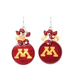 accessory PLAYS™ NCAA® Minnesota Golden Gophers Shell Cluster Earrings