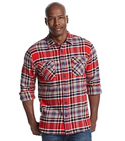 Ruff Hewn Men's Long Sleeve Plaid Brawny Flannel Button Down Shirt