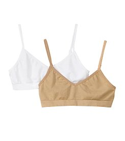 Maidenform® Girls' 2-Pack Seamfree Crop Bras
