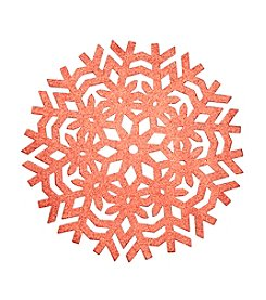 LivingQuarters Glitter Snowflake Round Placemat