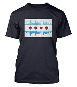 Chicago Flag and Skyline Men's Short Sleeve Tee