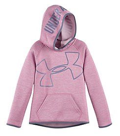 Under Armour® Girls' 2T-6X Fleece Novelty Jumbo Logo Pullover Hoodie
