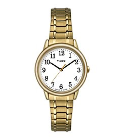 Timex® Women's Easy Reader Goldtone Stainless Steel Expansion Band Watch