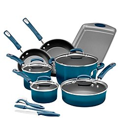 Rachael Ray® Marine Blue 14-pc. Hard Enamel Nonstick Cookware Set