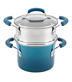 Rachael Ray® Marine Blue Nonstick 3-Qt. Sauce Pot Set with Steamer Insert