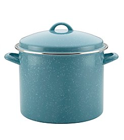 Paula Deen® Gulf Blue Speckle 12-qt. Enamel on Steel Covered Stockpot
