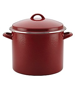 Paula Deen® Red Speckle 12-qt. Enamel on Steel Covered Stockpot