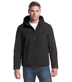 Tommy Hilfiger® Men's Soft Shell Hooded Jacket With Sherpa Lining