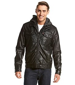 Levi's® Men's Hooded Faux Leather Two Pocket Trucker