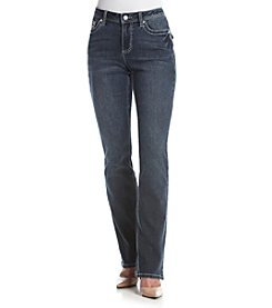 Earl Jean® Lace Cross Flap Pocket Slim Boot Jeans