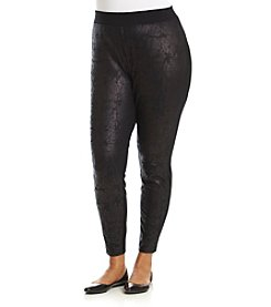 Ruff Hewn GREY Plus Size Foil Print Leggings